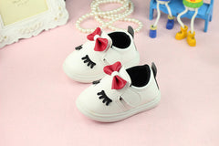 Soft bottom bow knot baby girl shoes