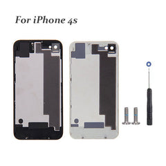 Black / White Back Glass for iPhone 4s Back Cover Housing Battery