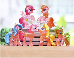 6pcs Little Horse Action Figures