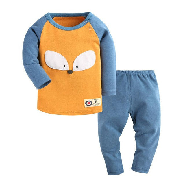 Baby Boy 2 pcs Top+Pants Long Sleeve Cotton Cloths for Winter / Spring