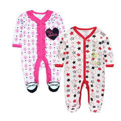 2 Pcs/lot Over All Baby Rompers Sleepwear Body Suits