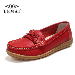 Genuine Leather Moccasins Flat Loafers Shoes