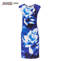 New Printed Bodycon Dress Women Summer Kaige.Nina Brand Plus Size 9021