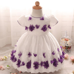 Baby girls White Baptism / Christening cute Gown / dress