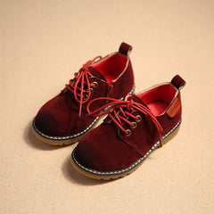 2017 Children Casual Shoes Child PU Leather Sport Shoes Retro Style Child Kids Vintage Leather Martin Boots Baby Sneakers