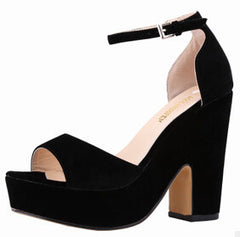 Ankle Strap High Thick Heels Sandals