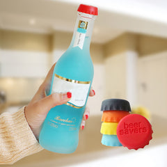 6pcs/lot New Kitchen multicolor Silicone Button Beer Wine Cork Stopper