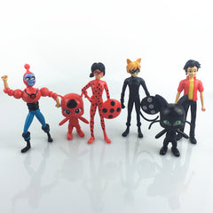 Ladybug Doll Action Figure Toys 6pcs/lot