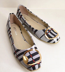 Bow Square Toe Slip-on  Korean Fashion Flat Shoes