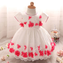 Baby girls sleeveless ball gown cute ruffle dress