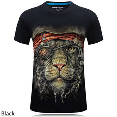 Summer Men's brand clothing gas monkey/lion 3D Digital Printed T shirt large size
