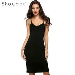 2017 Ladies Women Casual Sexy Strap Slip Bottoming Straight Dress  S M L XL  XXL