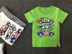 Short-sleeved T-shirt Car Print