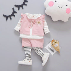 3 Pieces Casual Cotton Clothing Set for Girls