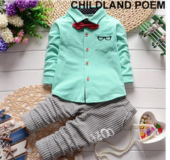Gentleman Clothing Suit Shirt+pants Birthday Outfit for Boys