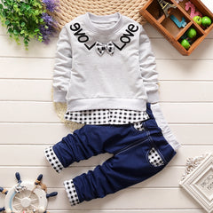 Casual Spring 2-Pieces Clothing Set with Bow Suit Jacket+Pant