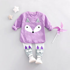 Cartoon Sweatshirt + Pants 2pcs Sports Clothing Set