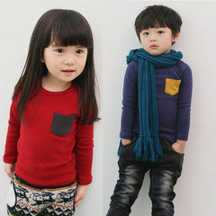 Solid Long sleeve Cotton T-shirt for Boys & Girls