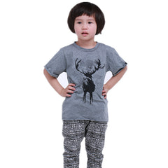 Reindeer Cotton Printed T-shirt / Tops