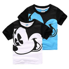 Simple Short Sleeve Mickey Mouse Cartoon Print T Shirt
