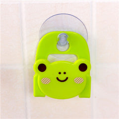 Carton Dish Cloth Sponge Holder Rack With Suction Cup Cute animal sucking sink storage shelf container