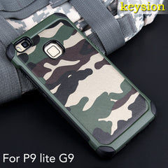 2 in 1 Army Camo Camouflage Pattern PC + TPU Armor Anti-knock Protective Back Cover for Huawei P9 Lite