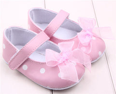 1 pair 11-13cm Princess First Walker Pu Leather Zapatos Infant Toddler Baby Shoes Girls New Born Soft Sole Prewalker 0-18Months
