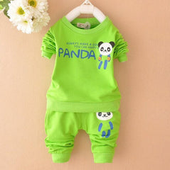 Unisex Panda Design Sports Tracksuit Clothing for Kids