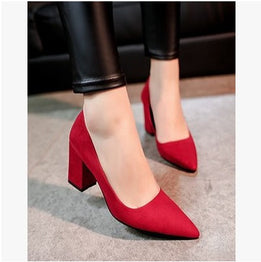 Casual Thick High Heels Fashion Shoes
