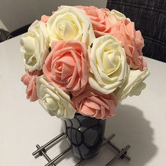 1 Bouquet 10 Heads  Artificial Rose Flower Wedding Bride Bouquet VB364 P20