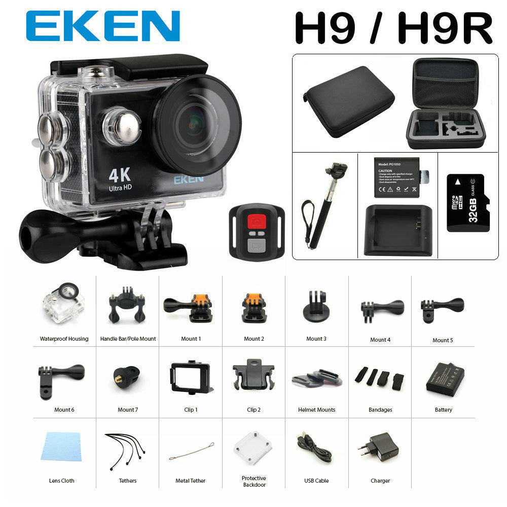 Eken H9/H9R Ultra HD 4K Waterproof Action Camera