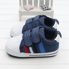 Pre Walker Navy Denim Strap Pram Shoes