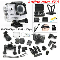 F60 WiFi 4K Extreme Mini Diving Waterproof Action Camera