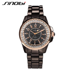 SINOBI Unisex Analog Stainless Steel Couple Watch