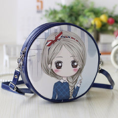 cartoon princess PU leather coin purse / crossbody bag for girls