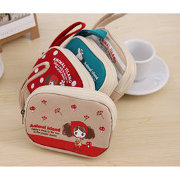 Korean Style Floral Rose cute Coin / Key Soft Purse for Kids
