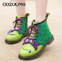 COZULMA Cartoon Kids Boots Winter Autumn Warm Thick Non-slip Boys Girls Winter Boots Children Fashion Martin Boots Cotton Shoes