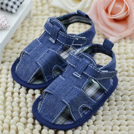Newborn Baby Infant Boys Summer Shoes Hard Sole White Blue Faux Jeans Toddle Shoes Baby First Walkers Free Shipping LD789