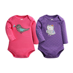 2 Pcs/Lot Baby Jumpsuit Rompers