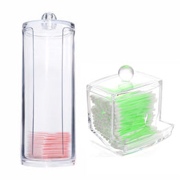 Portable Transparent Acrylic Cotton Swab Organizer