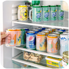 1 piece Beverage Can Space-saving Cans Finishing Frame 4 Refrigerator Storage Box