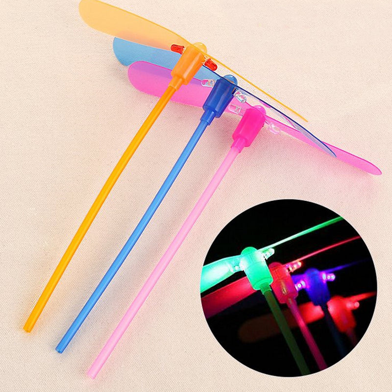 5Pcs/Set Colorful LED Night Lighting Fly Glowing Bamboo-copter