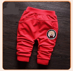 Baby Boys Cartoon Bear Full Length Pants Infant Trousers
