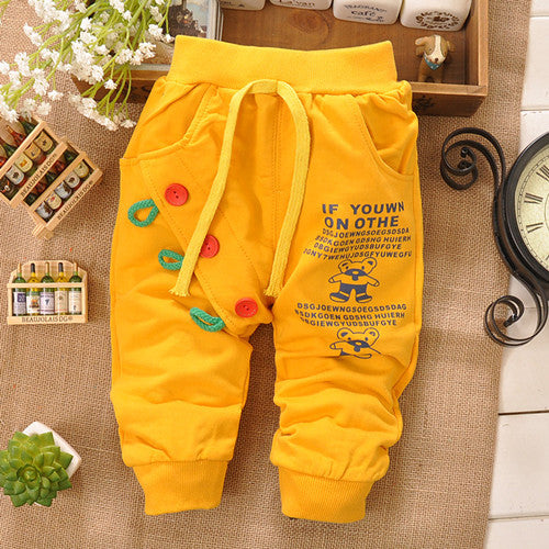 100% Breathable Cotton Baby Long Pants