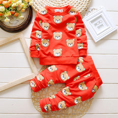 Casual Clothing Cartoon Bear Character Clothing Set for Toddlers