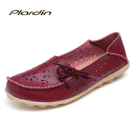 Genuine Leather Flexible Fashion Flat Shoes