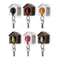 Sparrow Birdhouse Key Ring Holder Wall Mounted Holder 5Pieces