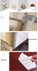 0.6*5M Vinyl Self Adhesive Wallpaper Roll for Furniture Bathroom Kitchen