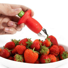 Novelty Strawberry Huller Top Leaf Remover Fruit Vegetable Tools Kitchen Accessories