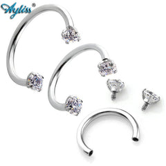 Ayliss Septo Nose Lip Eyebrow Ear Septum Cartilage Helix Captive Hoop Ring Piercing Body Jewelry